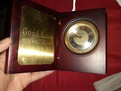 Danbury Clock Company Quartz Desk Clock GreatCondition Free Shipping need battry