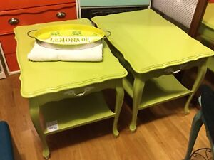 Side tables- citrus green