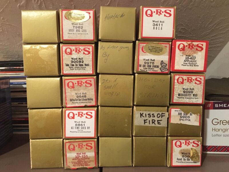 Lot Of 24 QRS Piano Rolls - Used but look good!