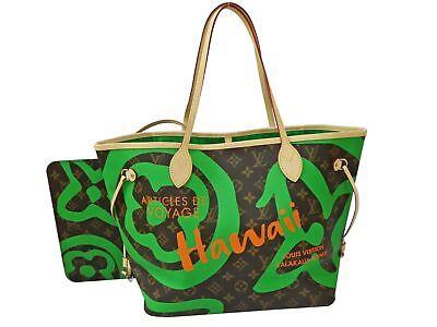 Auth Louis Vuitton Monogram Hawaii Neverfull MM Shoulder Tote Bag Unused Y956