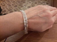 Brand Silver Plated 10mm Double Curb Bracelet With Gift Box -  - ebay.co.uk