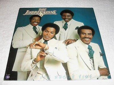 "Impressions, The ""It's About Time"" 1976 Soul LP, SEALED!, Orig Cotillion Press"