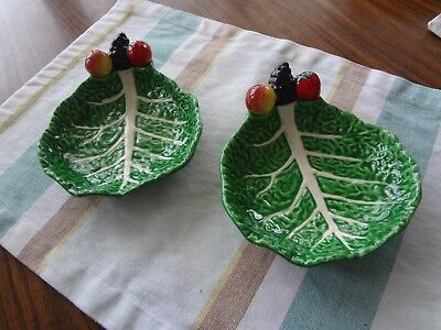 Vintage Cabbage Leaf Dish/Bowls with Fruit -  Gift Ideas Creations Phila, Pa. ()