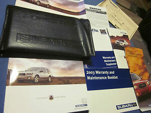 2003-SUBARU-FORESTER-OWNERS-MANUAL-OWNERS-SET