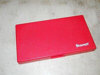 Starrett Micrometer Storage Case 4-5 Micrometer Case  1 Case  New