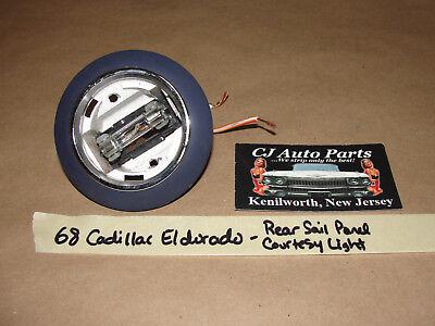 OEM 68 1968 Cadillac Eldorado REAR INTERIOR SAIL PANEL COURTESY LIGHT **TESTED**