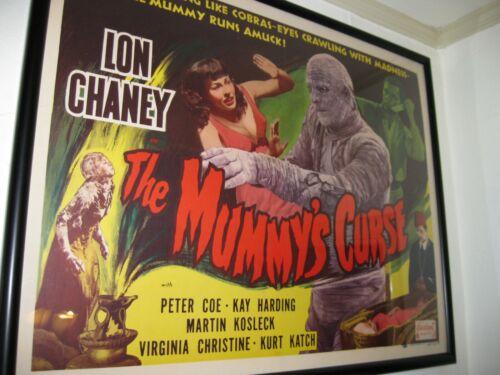 "Original ""Mummys Curse"" Horror Half Sheet...Paperbacked!!!!"