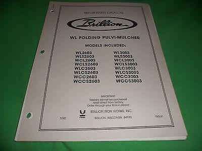 Drawer 16 Brillion Wl Folding Pulvi-mulcher Repair Parts Catalog
