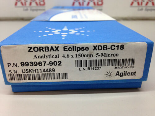 Agilent Zorbax HPLC Column Eclipse XDB-C18 Analytical 4.6 x 150mm 5 Micron