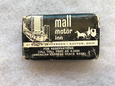 Mall Motor Inn Vintage Souvenir Advertising Soap Bar, Dayton (Dayton Mall Ohio)