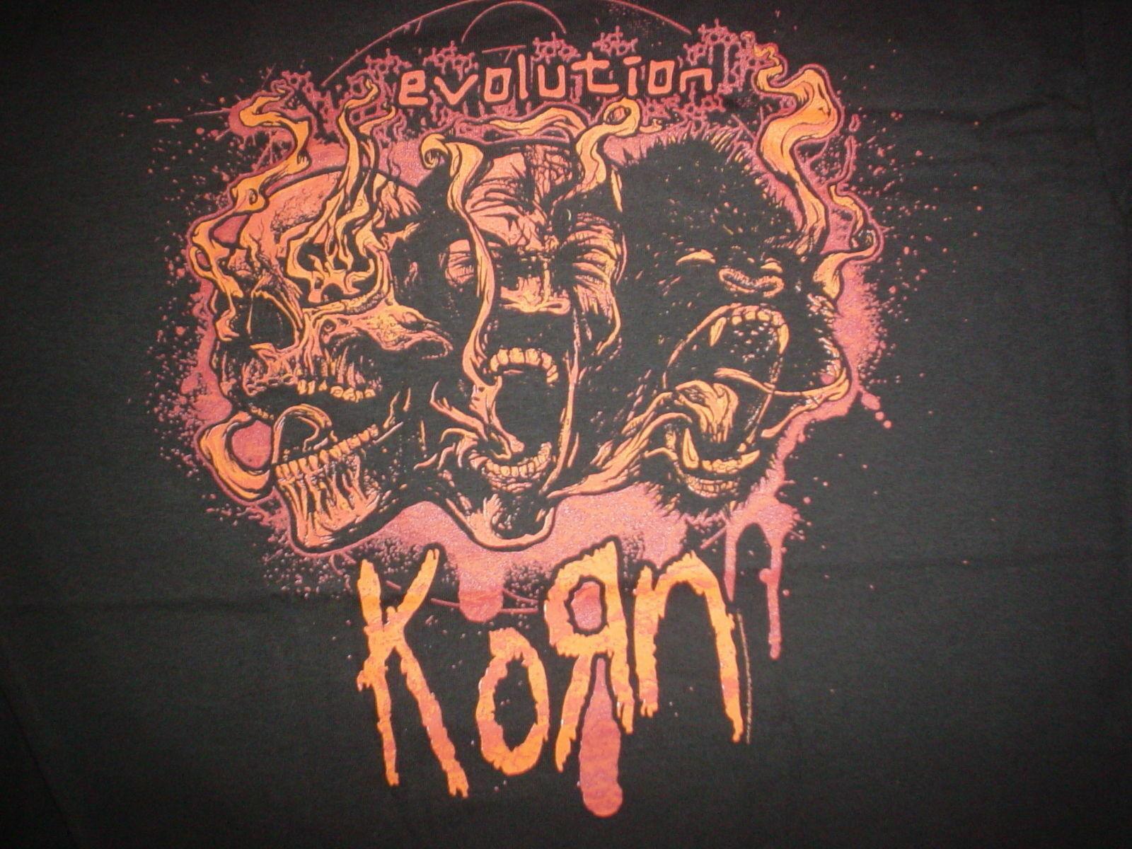 KORN Flames Fire RARE 2007 Evolution Concert Tour XL Rare NEW T-SHIRT