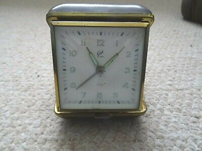 VINTAGE 1950/60S CORAL 8 DAY 7 JEWELS WIND UP TRAVEL ALARM CLOCK SPARES/REPAIRS