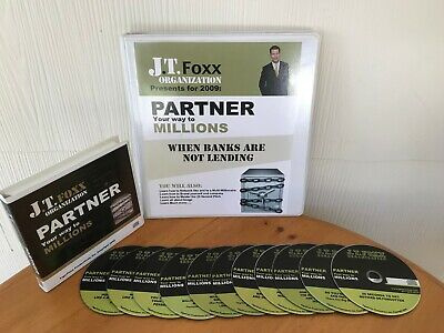 PARTNER YOUR WAY TO MILLIONS BY J.T. FOXX - MANUAL & 11 CD PACKAGE HARD-TO-FIND!