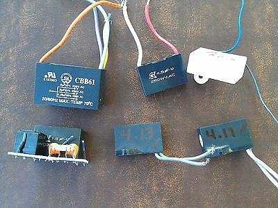 6cc68 Assorted Capacitors All Verified 250vac Class 1.5 - 6 Mf Very Good