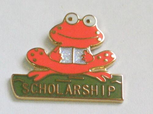 Orange Scholarship Frog Pin (#3)