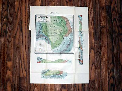 Costigan Coal Field, Alberta, Canada - 1905 - Historic Geologic Map