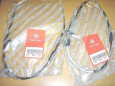 GENUINE ALFA ROMEO 156 ALL MODELS 1997   2006  New Pair Rear Hand Brake Cables
