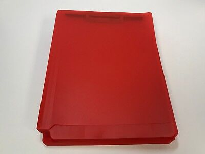 Poly Full Cut Folder With 2 Fasteners Red 25box
