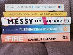 Book Bundle: self-help and growth, assorted titles.