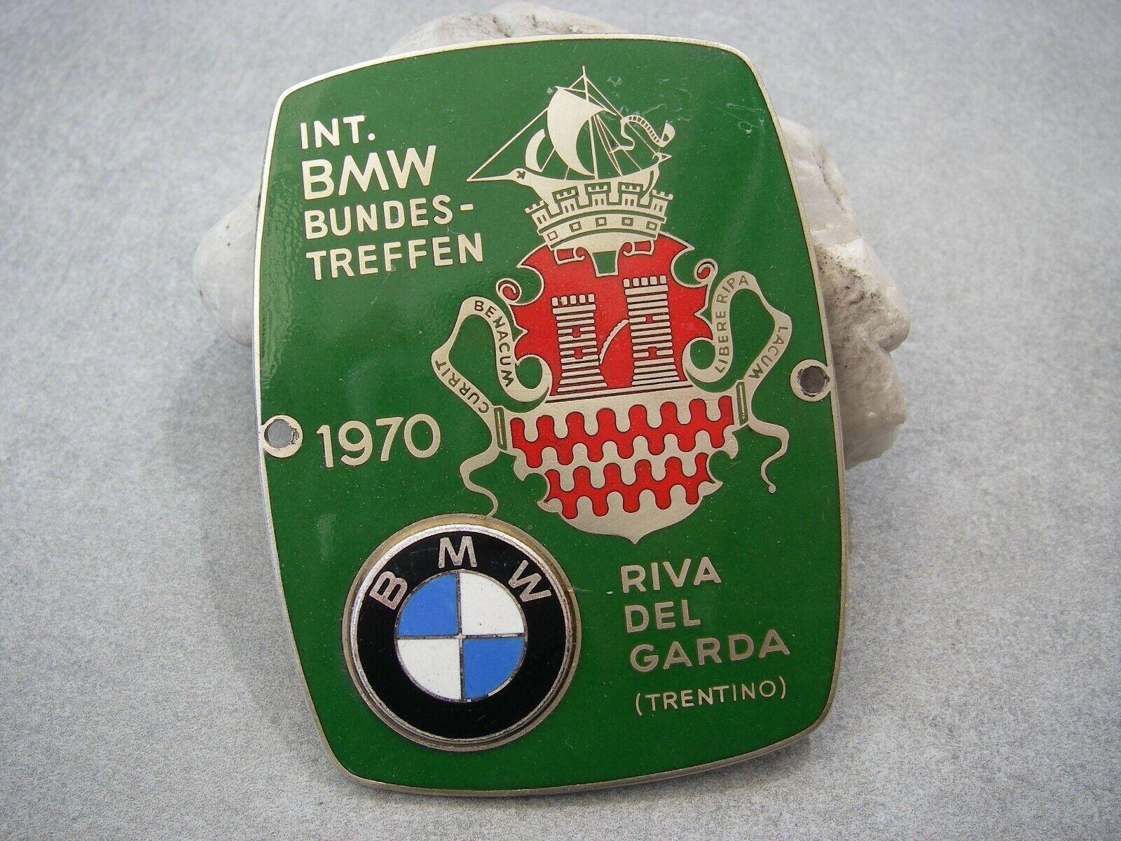 vintage INTERNATIONAL BMW MEETING ITALY RIVA DEL GARDA TRENTINO 1970 Car Badge