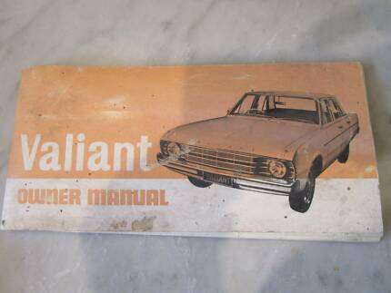 D46018 Vintage Valiant Car Owner Manual