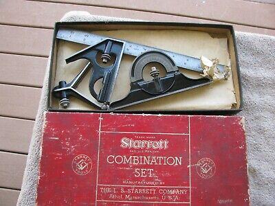 Starrett 12 Combination Square 4 Grad Machinist Tool