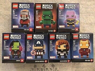 LEGO BrickHeadz Marvel Lot Of 7 - NIB