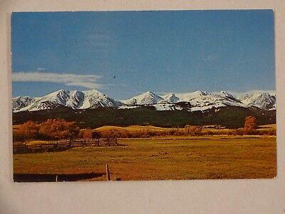 1965 Postcard Bridger Mountains Gardiner MT Sidney Smalley Preston MN