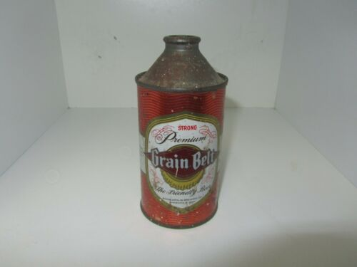 Grain Belt Premium Old Cone Top Beer Can Strong
