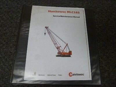 Manitowoc Model Mlc165 Crawler Crane Shop Service Repair Maintenance Manual
