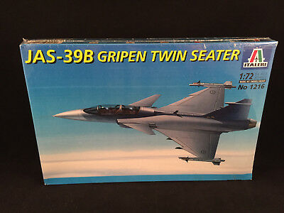 Italeri JAS-39B Gripen Twin Seater 1:72 Scale Model Kit 1216 Sealed Box