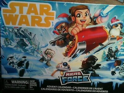 Star Wars Micro Force Advent Calendar, 24 figurines, New - Sealed