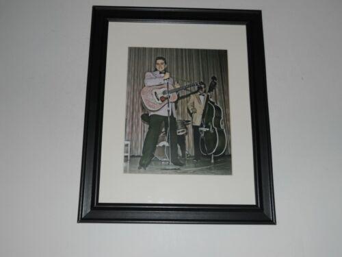 """Large Framed Elvis Presley on Stage 1956 in Color Bill Black also 24"""" x 20"""""""