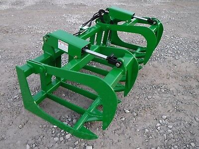 John Deere Tractor Loader 72 Dual Cylinder Root Grapple Bucket - 99 Ship