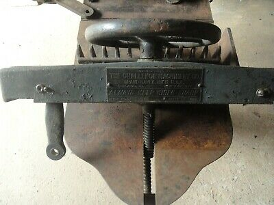 Antique Paper Cutter 16 Inch - Made By Challenge Machinery Co Grand Haven Mi