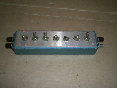7 Position Attenuator 1 To 32 Db