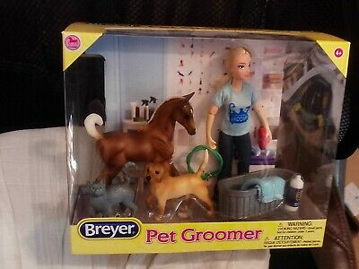 BREYER CLASSIC # 62029~PET GROOMER W/PONY-DOLL-CAT-DOG-COMB & MORE 2018 NEW/BOX