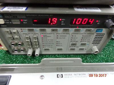 Hp 4937a Transmission Impairment Measuring Set W 4938a Network Access Test Set