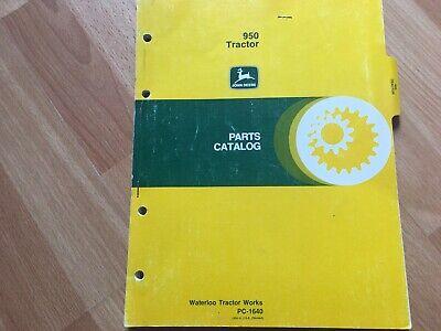 John Deere 950 Tractor Factory Parts Catalog Pc1640