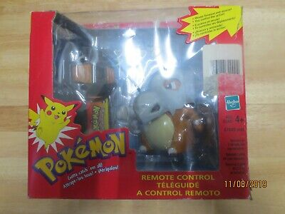 Pokemon Cubone Tomy Remote Control Toy Hasbro NIB 1999 Damage Box