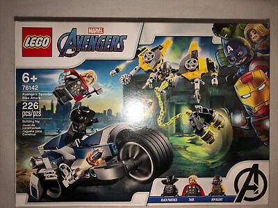 Lego Black Panther & Thor Avengers Speeder Bike Attack 76142 New Sealed