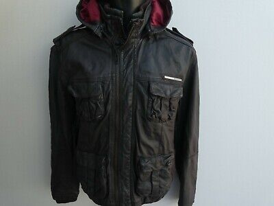 SUPERDRY BROWN BOMBER LEATHER JACKET SIZE XL VERY GOOD CONDITION!!!!!!