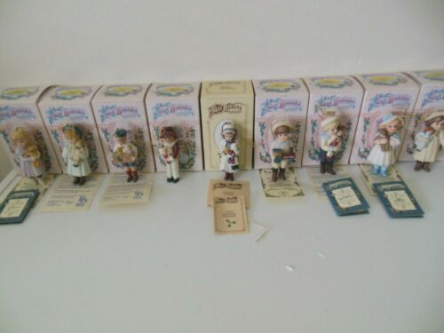 9 Jan Hagara Limited Editions Ornaments 1986 & 1987 with Boxes & Some COA