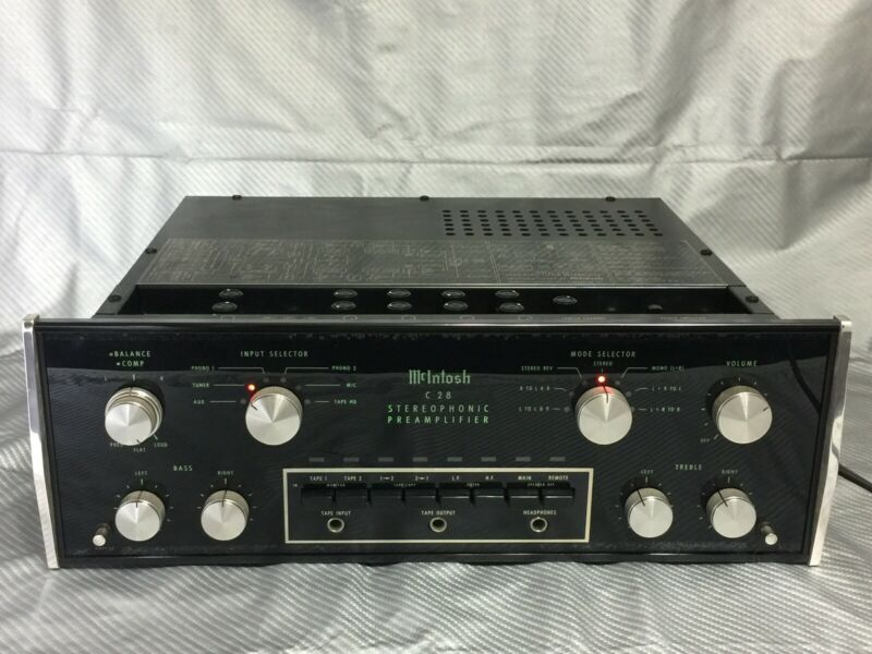 McIntosh C28 Stereophonic High Fidelity Preamplifier, Excellent Working