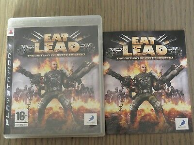 JEU PLAYSTATION 3 PS3  EAT LEAD  COMPLET EN FRANCAIS d'occasion  Asse