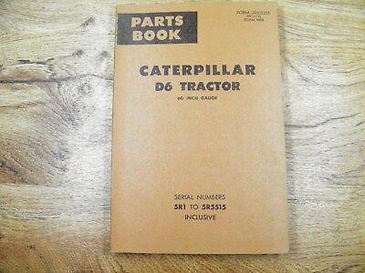 CAT Caterpillar D6 PARTS BOOK 5R1-5515