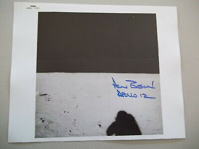 Alan Bean Apollo 12 Autograph on Lunar Photo ()