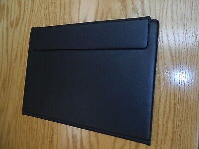 Black Presentation Portfolio With 4 Plastic Sheets