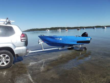 Boat + Folding Trailer Package Ex display stock Taylors Beach Port Stephens Area Preview