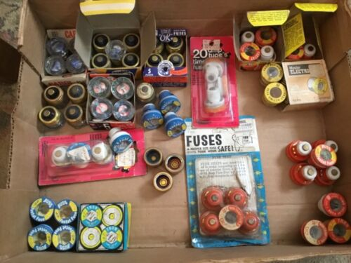 66 PLUG FUSES 22 GLASS 44 OTHER 15,20, 25 AMP EAGLE BUSS FUSTAT TRON AND MORE